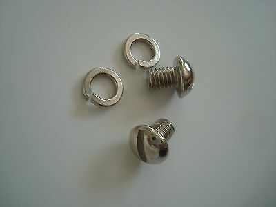 """Western Electric telephone Bell screws Nickle plated 10-32 x1/4"""" ringer, magneto"""