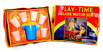 Akro Agate Play-Time 7 Piece Glass Water Boxed Set