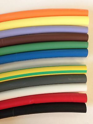 """3/32"""" Red 10 ft Heat Shrink Tubing 2:1 Ratio FREE SHIPPING"""
