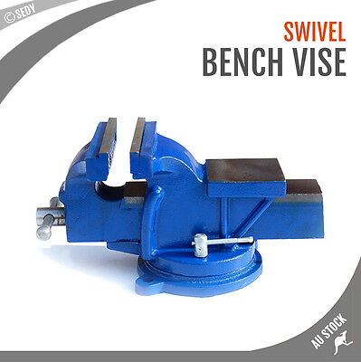 "3"" x 3"" Super Heavy Duty Bench Vise Swivel Clamp Table Base Grip Capacity"
