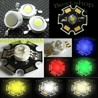 1W - 3W High Power Epistar Chip Wide Angle High-Power 140° Star LED 3W RGB LED