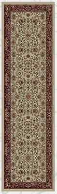 2X8 Hallway Runner Rug Classic Persian Oriental Red Antique Beige Tan Border New