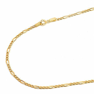 14K Yellow Gold 2mm Figaro Chain Necklace