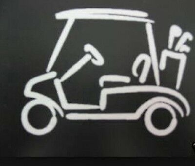 White Vinyl Golf Cart Decal Sticker Golfer Funny Outdoors