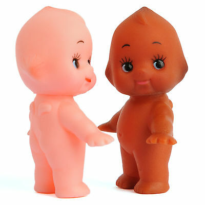 """Cute Kewpie Dolls Baby Vintage Cameo Figurine Rubber Ornament Stand Toys 2pcs 2"""""""