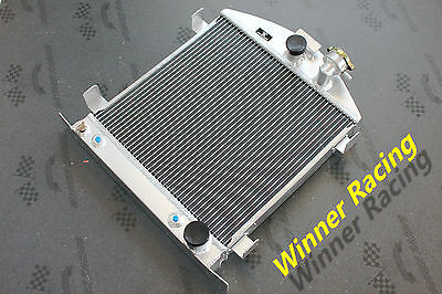 "21.5"" aluminum alloy radiator Ford hot rod chopped w/Chevy SB V8 engine 30-32"