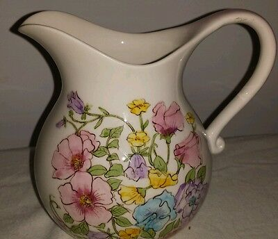 Lefton handpainted China Porcelain Pitcher Serial # vintage