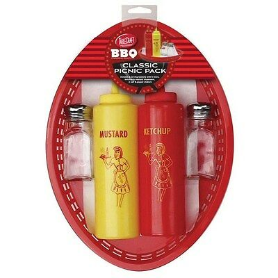 TableCraft BBQ Series Classic Picnic Pack - 6pc Set + Liners