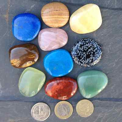 Gemstone worry palm  healing stone. choice from 10 different crystals. Reiki