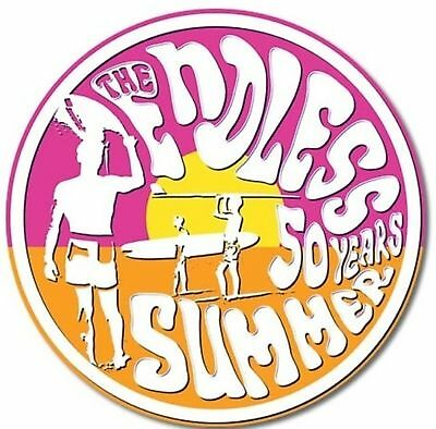 """11.75"""" Round Tin Sign Endless Summer 50th Wall Home Decor #1908"""