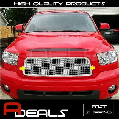 For Toyota Tundra 2007-2009 1 Pc Upper Stainless Steel Chrome Mesh Grille Grill