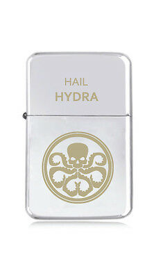 ★STAR★ engraved LIGHTER silver black pink gold SHIELD HYDRA marvel agent HAIL