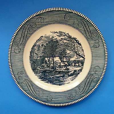"Currier and Ives The Old Grist Mill DINNER PLATE 10"" Royal China USA"