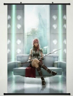 Home Decor Anime Final Fantasy Wall Scroll Poster Fabric Painting Lightning -032