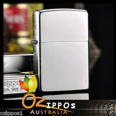 Zippo Lighter Satin Chrome 205 Genuine  - Free Post in Australia