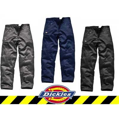 DICKIES REDHAWK ACTION TROUSERS | Work Cargo Combat | Zip Pockets Super