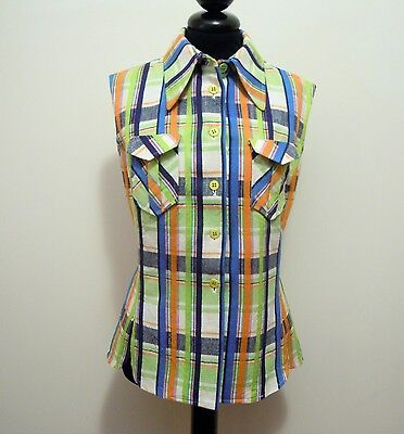 CULT VINTAGE '70 Camicia Donna Cotone Cotton Woman Shirt Sz.S - 42