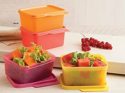 Tupperware Keep Tab Small - Containers - 500ML - Set of 4 - Ships WorldWide