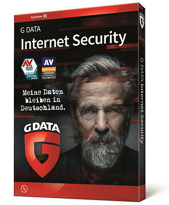 G Data Internet Security 2018 | 1 PC 1 Jahr | Vollversion GDATA Neu DE UE 2019