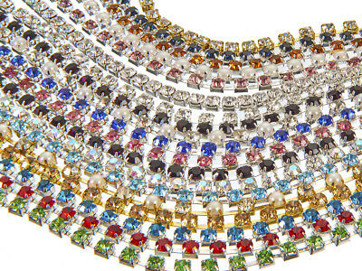 10 Metres Rhinestone Cup Chain, EIMASS® 3575 Wholesale Glass Crystal Trimming