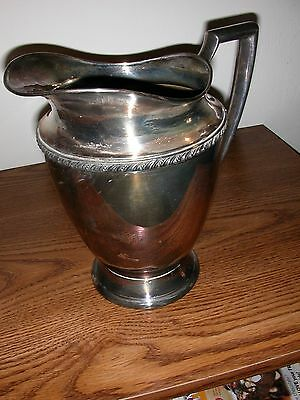 "Wm Rogers Antique Silver Water Pitcher ""AVON  3617"""