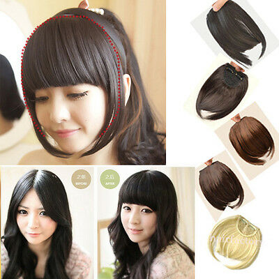 Best Love Piece fringe bangs Straight Clip in on hair extensions Fake Hair S0