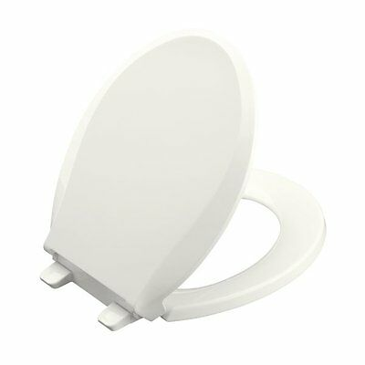 Kohler 4639-0 Co. Grip-Tight Cachet White Plastic Round Slow Close Feature Toile