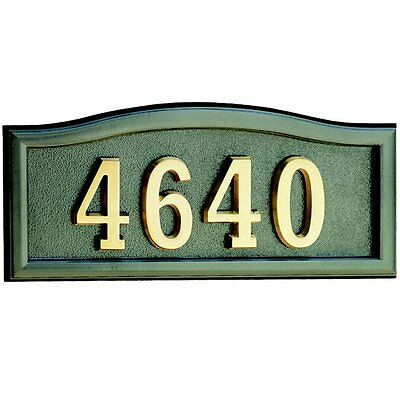 Gaines Manufacturing HM-SCBR Casted Aluminum Address Plaque with Powder-Coated F