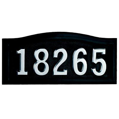 Gaines Manufacturing HM-SCBL Casted Aluminum Address Plaque with Powder-Coated F