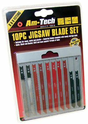 10 Piece Jigsaw Blade Set Fits Black And Decker Skil Uk