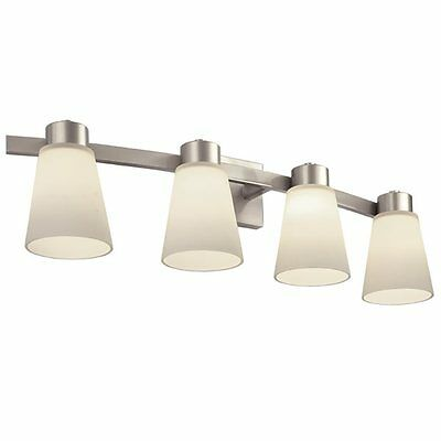 Portfolio 40459 3-Light Brushed Nickel Bathroom Vanity Light