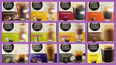 Nescafe Dolce Gusto Coffee Capsules - 3 Boxes Of 16 Pods - Select your Flavour