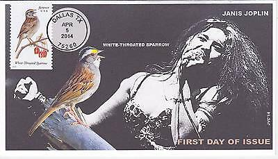 Jvc Cachets - 2014 Songbirds First Day Covers Fdc Topical Music Janis Joplin