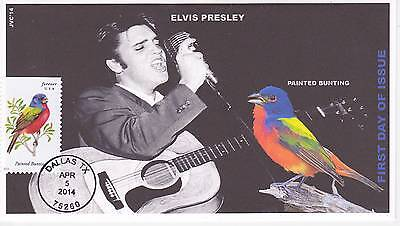 Jvc Cachets - 2014 Songbirds First Day Covers Fdc Topical Music Elvis Presley