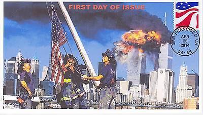 Jvc Cachets-2014 Red White & Blue First Day Covers Fdc Topical 9/11 Flag Raising