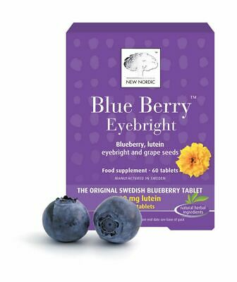 New Nordic Blueberry Eyebright 60 Tablets Maintain Healthy Eyes And Vision