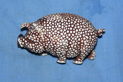 VERY RARE FIGURAL Stippled Celluloid PiG w/ clover ~TAPE MEASURE