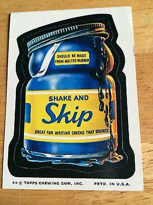 1974 TOPPS SERIES 9 WACKY PACKAGES PACK TAN BACK STICKER SHAKE AND SKIP VINTAGE