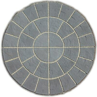 Paving 1.8 Charcoal Rotunda Circle Pavin Patio Slab Free Delivery Note Exception