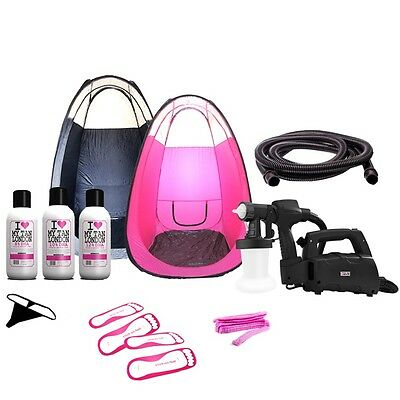Spray Fake Tan Kit HVLP Tanning Machine PopUp Tanning Tent +  FREE Solution