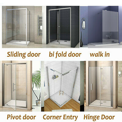 Bifold/Pivot/Hinge/Sliding/Wet Room Shower Enclosure Glass Door Screen Cubicle