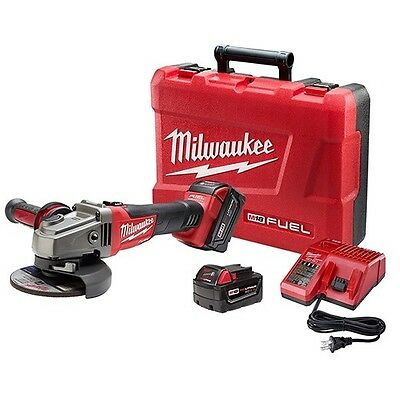 Milwaukee 2781-22 M18 FUEL 4-1/2 / 5 Grinder, Slide Switch Lock-On 2 Battery Kit