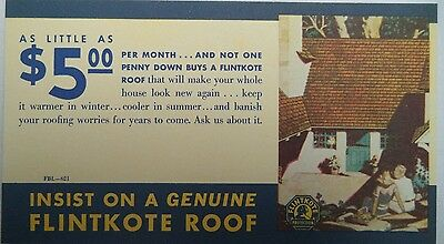 Vintage Flintkote Roof Blotter! Lot Aud