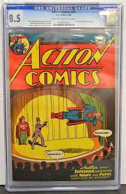 ACTION COMICS #97 CGC 8.5 Superman 1946 Hocus & Pocus app 4th Highest grade