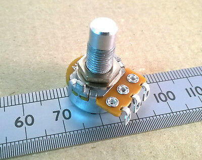 Long Thread Round Shaft Solder Lug 16mm Logarithmic Potentiometer, Log A Pot