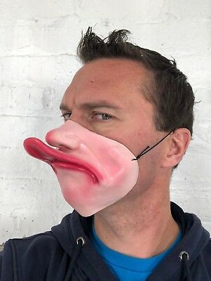 Funny Half Face Fat Lip Duck Beak Mask Latex Fancy Dress Stag Party Masquerade