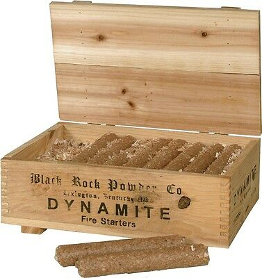 Chimney and Grill starter in Dynamite rod form In decorative Wooden box