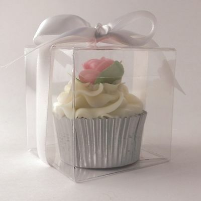Clear Single Cupcake boxes: 70mm | 7cm : premium quality: 1 | 10 | 50 | 100