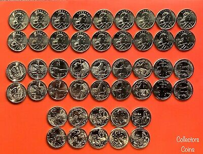 2000 - 2016 Sacagawea Native American 34 Coin PD BU Set from US Mint Rolls