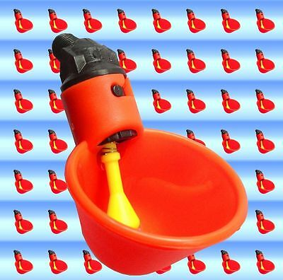 5 Chicken Drinker Cups automatic float poultry waterer drink cup coop system USA